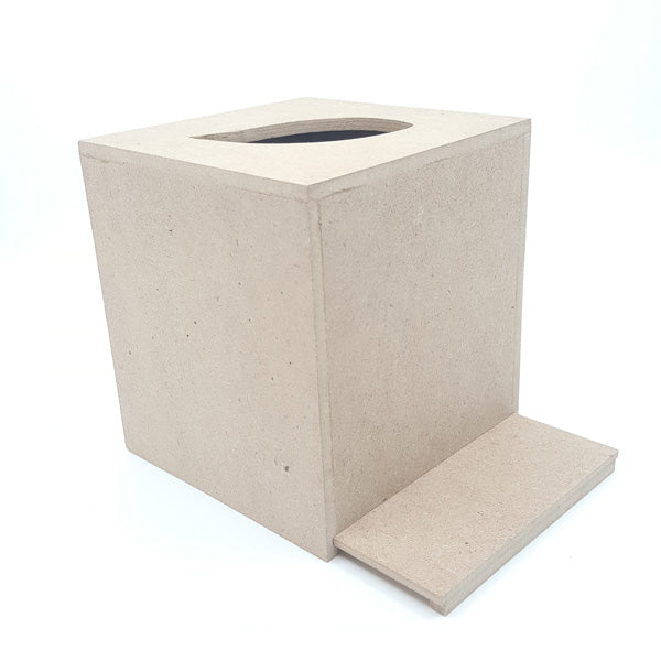 Small Mdf Tissue Box Blanks with sliding  bottom cover