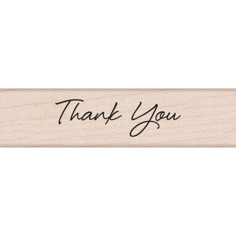 Hero Arts Thank You Wood Mounted Rubber Stamp