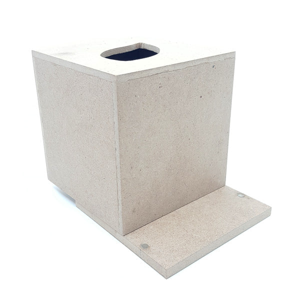 Small Mdf Tissue Box Blanks with magnetic bottom cover