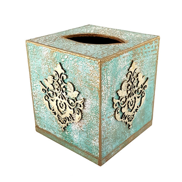 Small Mdf Tissue Box Decpupage