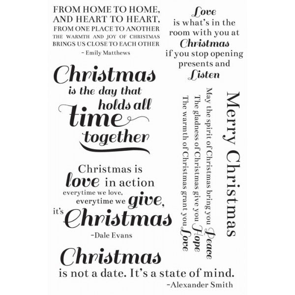 Traditional Christmas Clear Stamps