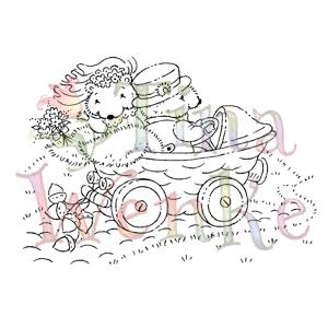 Stampavie Wedding Squirrels Clear Stamp