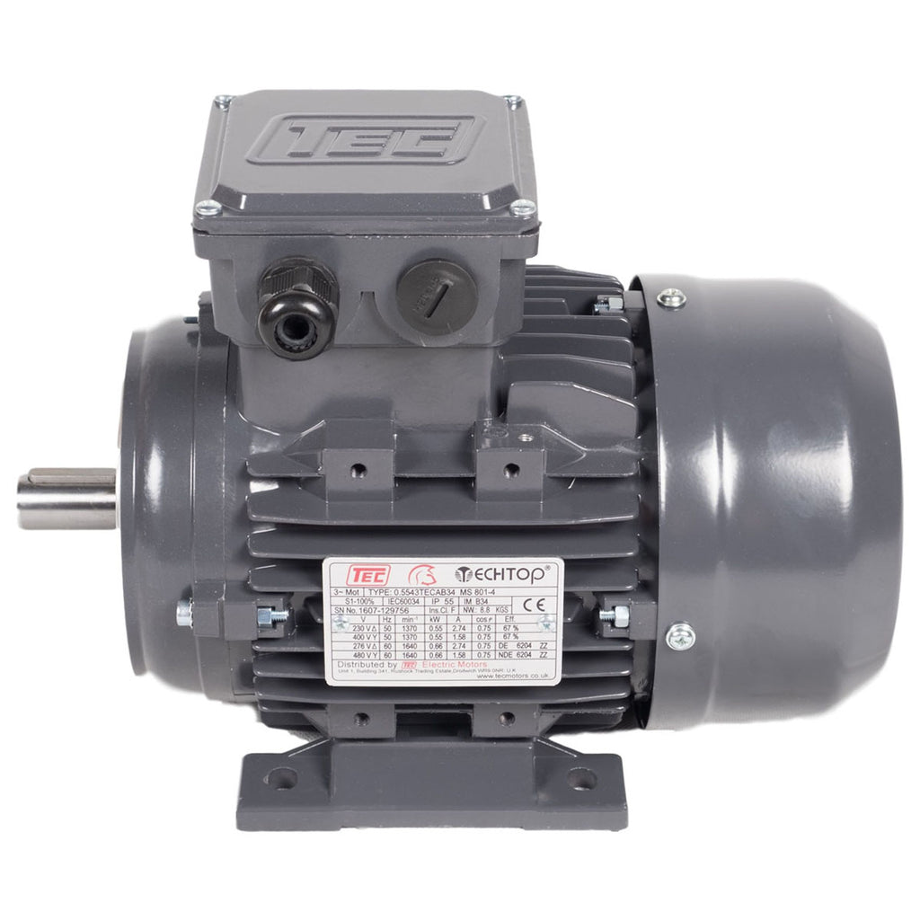 TEC 3 Phase Electric Motors - 4 Pole, 1500rpm (IE2 High Efficiency)