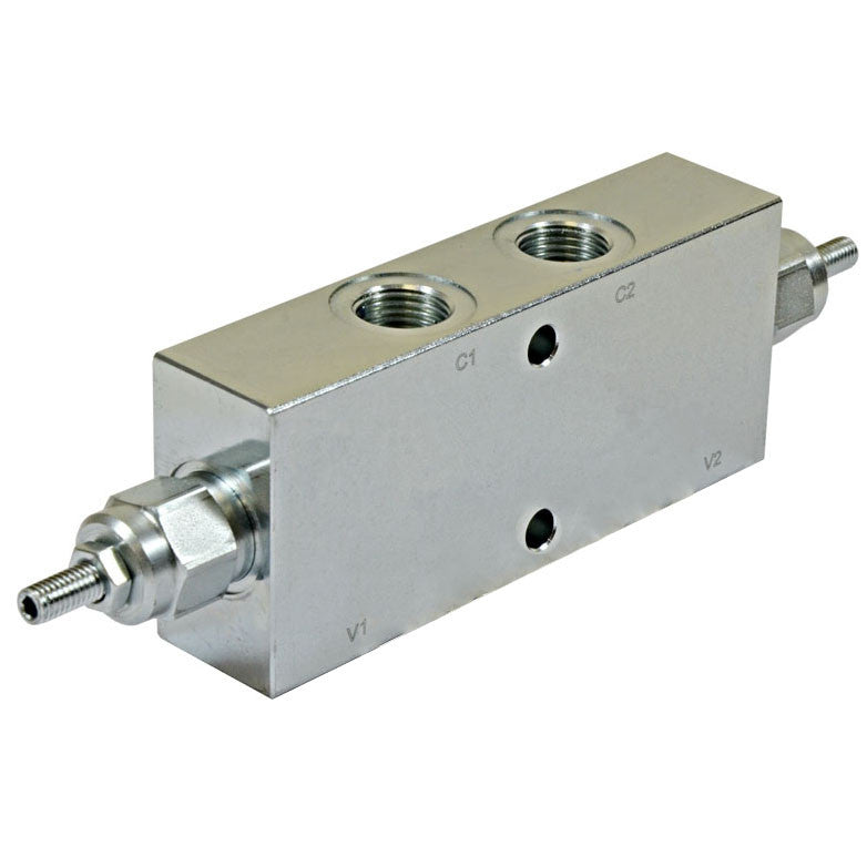 "Hydra Part Double Counterbalance Valve 3/4"" In Line - 100-350Bar (Aluminium Body) - Approved Hydraulics"