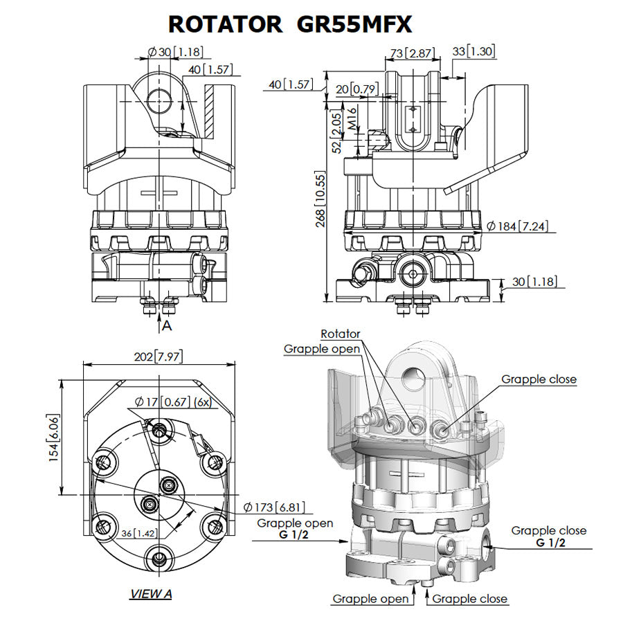 Baltrotors GR55MFX Rotator - Approved Hydraulics