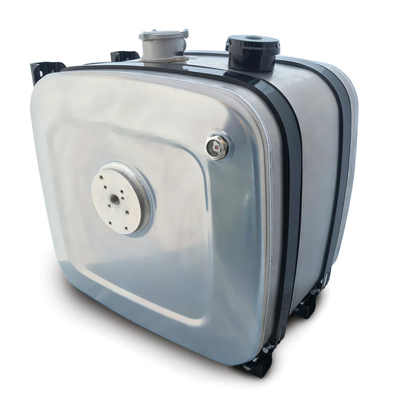 Side Mounted Aluminium Oil Tanks With Filter and Tipper Valve Plate (135L-200L)