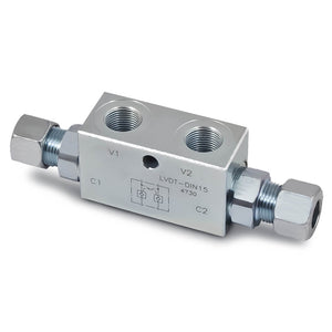 HP-LVDT-DIN Double Pilot Check Valves