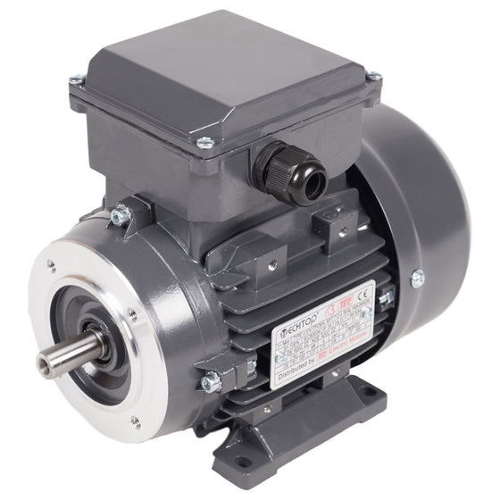 TEC Single Phase Electric Motors - 4 Pole, 1500rpm, 240vAC (PERMANENT CAP)