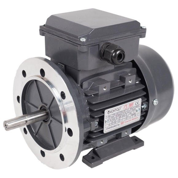 TEC Single Phase Electric Motors - 2 Pole, 3000rpm, 240vAC (PERMANENT CAP)