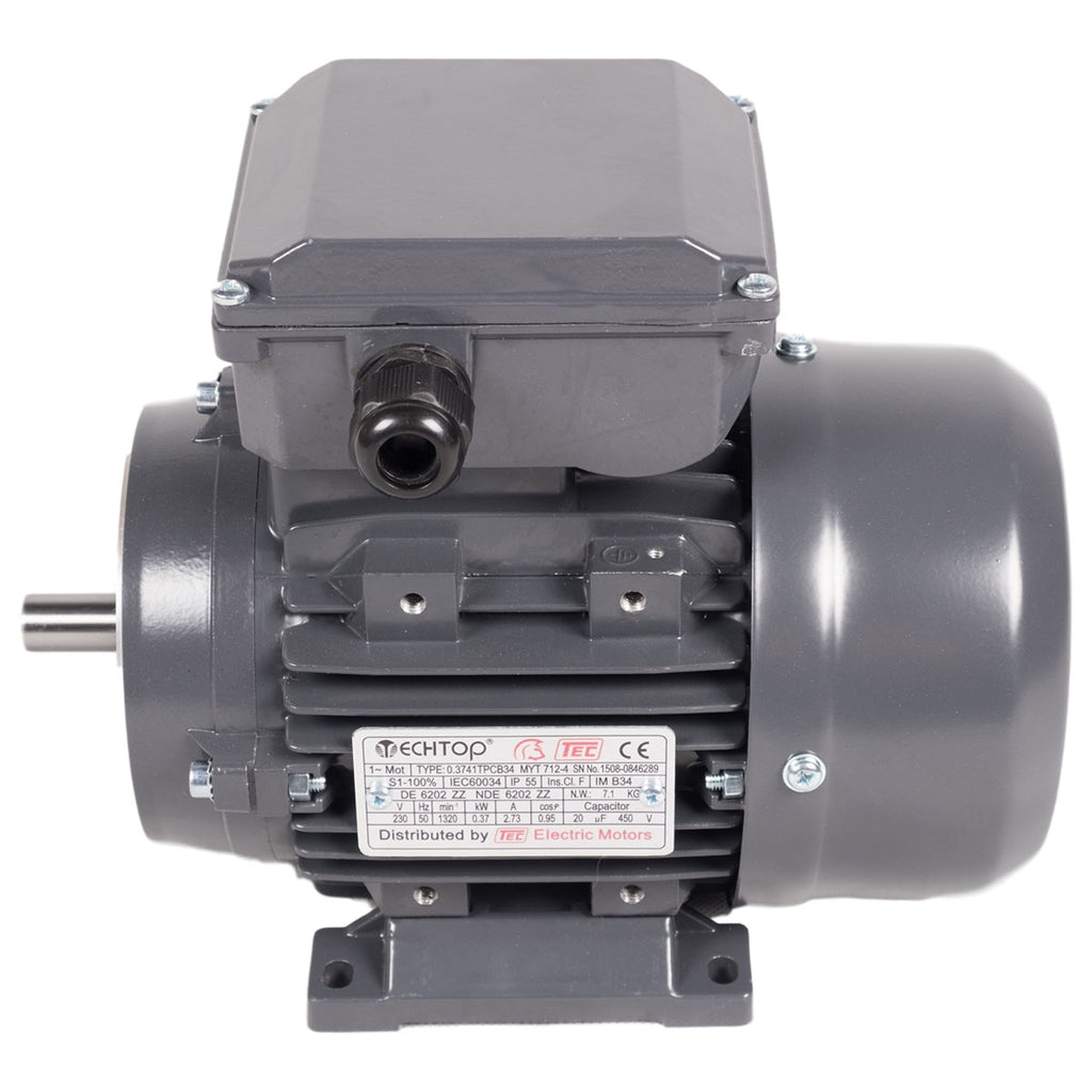 Tec single 1 phase electric motors 2 pole 240vac for Two phase electric motor