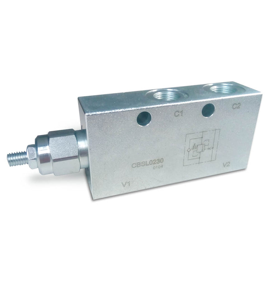"Single Counterbalance Valve 3/8"" In Line - 100-350Bar"