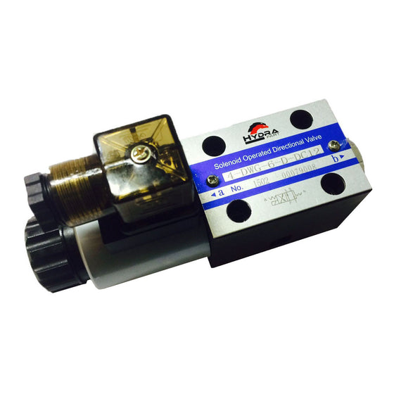 Hydra Part CETOP 3 single solenoid control valve  NG06 All ports connected to X - Approved Hydraulics