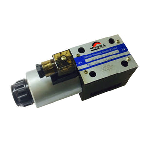 Hydra Part CETOP 5 single solenoid control valve NG10 All ports connected to X - Approved Hydraulics