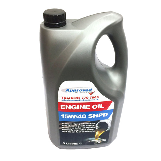 Hydra Part Engine Oil 15W/40 5 Litres - Approved Hydraulics