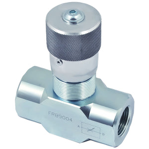 Hydra Part Flow Regulator Valves with Needle Shut Off - Approved Hydraulics