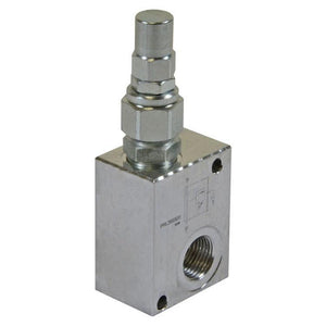 "Hydra Part Inline Pressure Relief Valve 3/8"" Bsp 35Lpm 350 Bar Max - Approved Hydraulics"