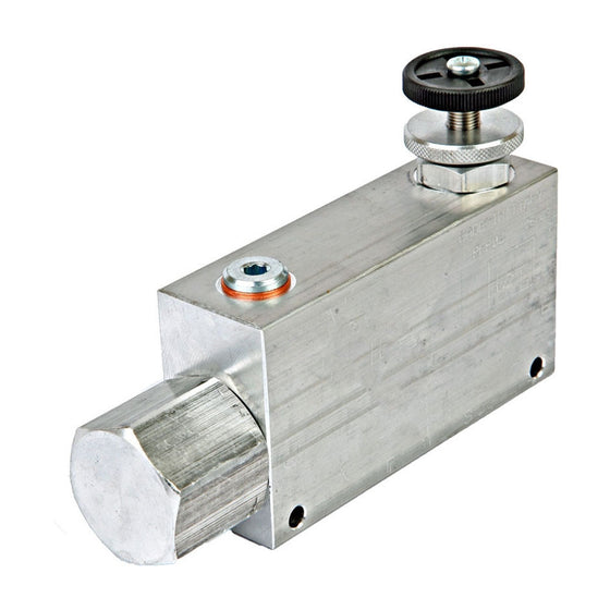 "Hydra Part Hydraulic 3 port flow control valve excess back to tank 3/8"" - Approved Hydraulics"