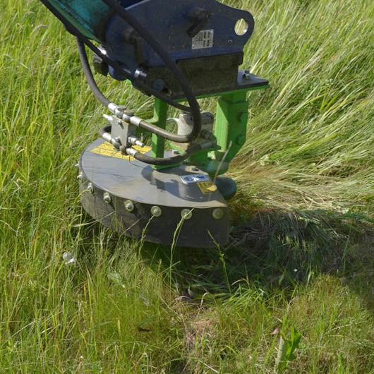 OMEF OMEF RIS1 Excavator Mounted Strimmer - Approved Hydraulics