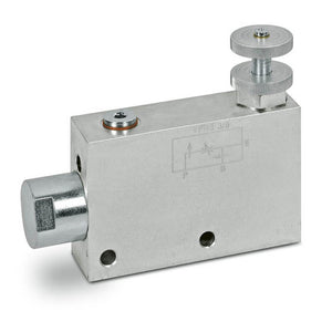 "Hydra Part 3/8"" 3 Port Pressure Compensating Flow Control with bypass to line - Approved Hydraulics"