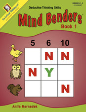 Mind Benders Beginning Book 1 Gr PreK-K