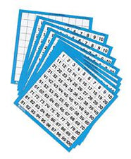 Laminated Hundreds Boards, Set of 10