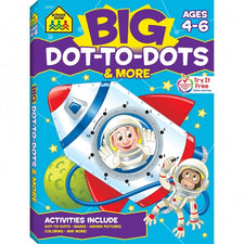 School Zone Publishing Big Dot-to-Dots & More Workbook