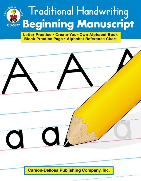 Traditional Handwriting: Beginning Manuscript Workbook
