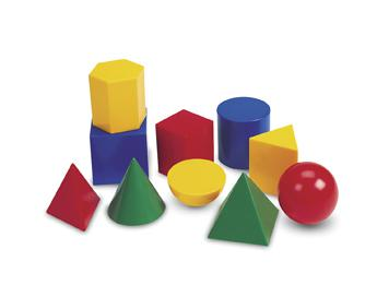 Large Geometric Plastic Shapes