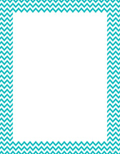 Turquoise Chevron Poster Chart