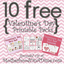 10 Free Valentine's Day Printable Packs