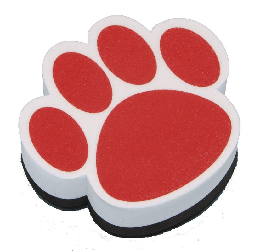Red Paw Magnetic Whiteboard Eraser