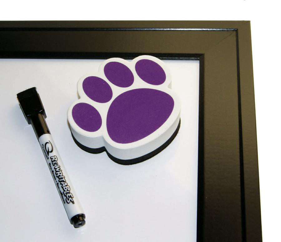Magnetic Whiteboard Eraser Purple Paw Ash10005 Supplyme