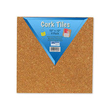 Cork Tiles, 12 Inch x 12 Inch, Set Of 4