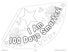 100th Day of School Party Hat Activity & Craft! - (2 Printable Versions)