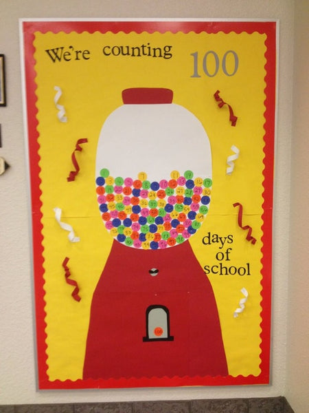 We Re Counting 100 Days Of School 100th Day Bulletin