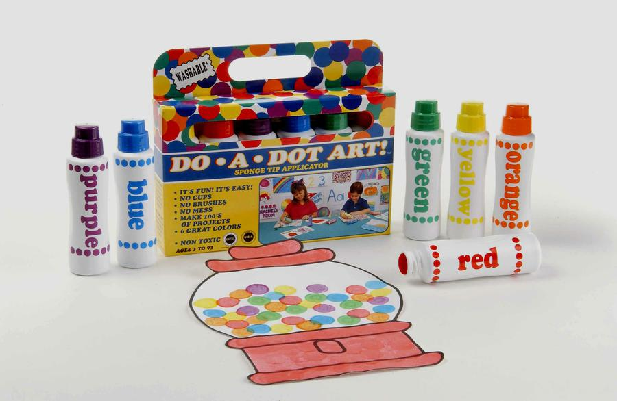 Do-A-Dot Art!® Rainbow Washable Dot Markers, 6 Pack