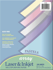 Array® Bond, 20# Pastel Assorted, 100 Sheets