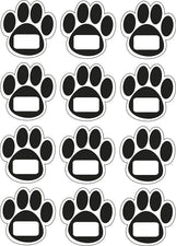 Magnet Black Paw Prints