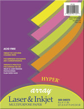 Array® Bond, 24# Hyper Assorted, 500 Sheets, Poly Wrapped