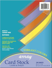 Array® Card Stock, 65#, Vibrant Assortment, 100 Sheets