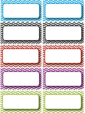 Large Magnetic Labels, Colorful Chevron