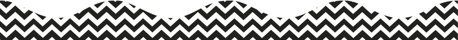 Black Chevron Magnetic Border