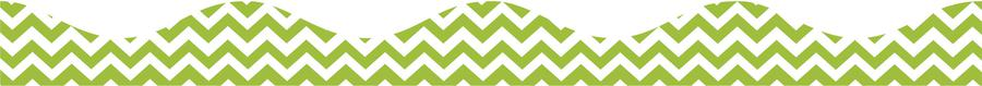 Lime Green Chevron Magnetic Border