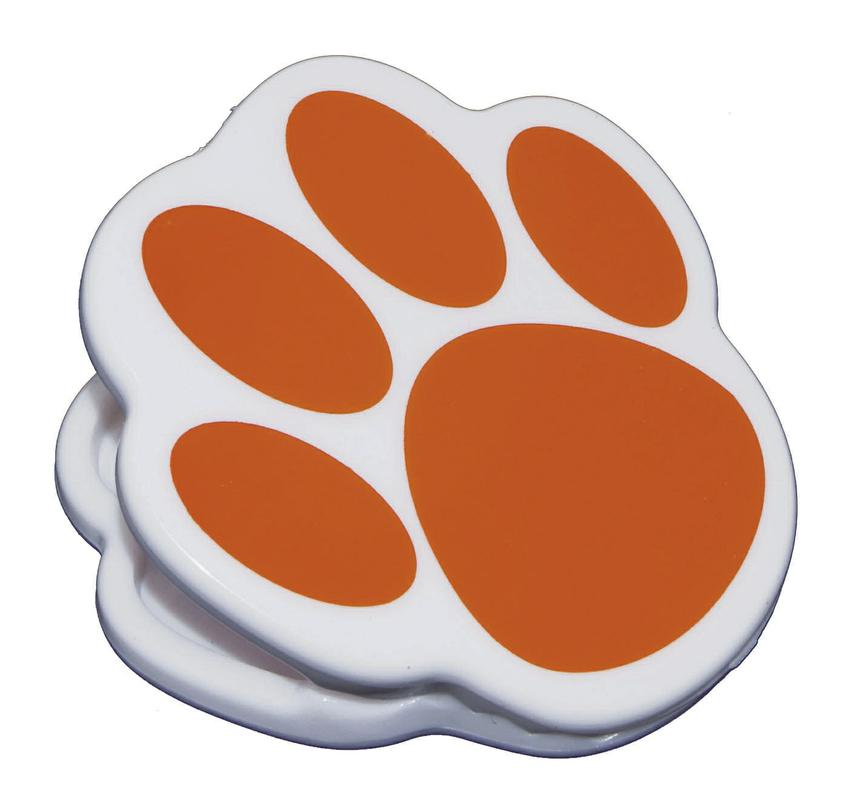 Orange Paw Magnet Clip