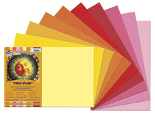 "Tru-Ray® Construction Paper, 12"" x 18"" Warm Assortment"