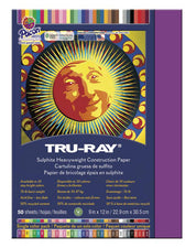 "Tru-Ray® Construction Paper, 9"" x 12"" Magenta"