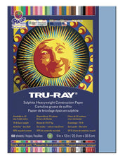"Tru-Ray® Construction Paper, 9"" x 12"" Sky Blue"