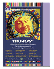 "Tru-Ray® Construction Paper, 9"" x 12"" Lilac"