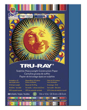 "Tru-Ray® Construction Paper, 9"" x 12"" Blue"