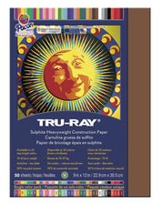 "Tru-Ray® Construction Paper, 9"" x 12"" Warm Brown"